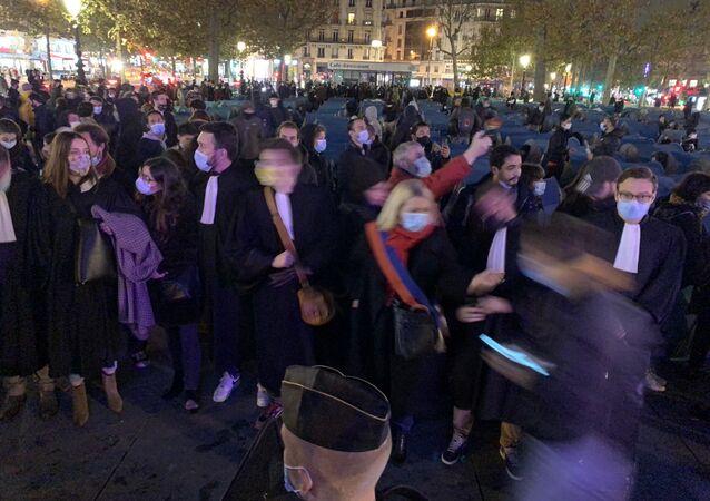 Paris, place de la République, le 23 novembre 2020