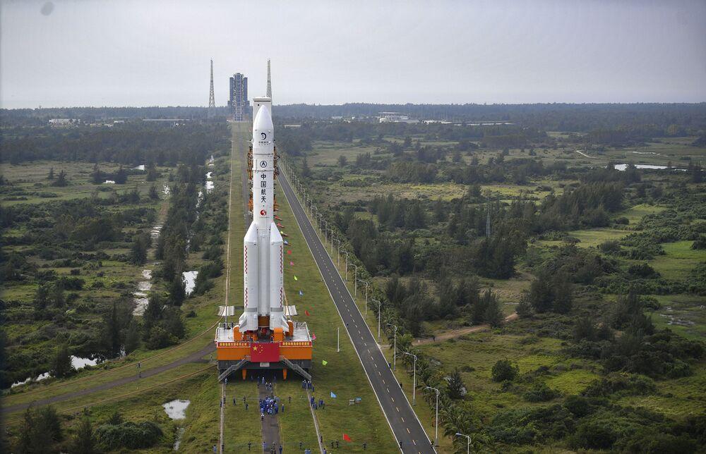 La fusée chinoise Longue Marche-5