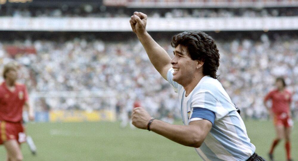 Diego Maradona pendant la Coupe du monde 1986