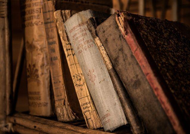 Livres anciens. Image d'illustration