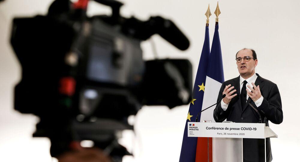 Jean Castex lors d'une conférence de presse, le 26 novembre