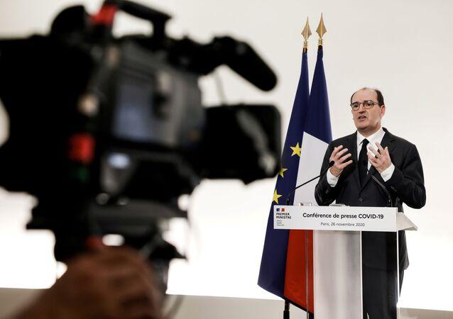 Jean Castex lors d'une conférence de presse (photo d'archives)