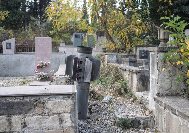 Un cimetière du Haut-Karabakh
