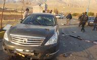 Une scène qui montre la voiture de Mohsen Fakhrizadeh, assassiné près de Tehran, Iran, 27 novembre, 2020.