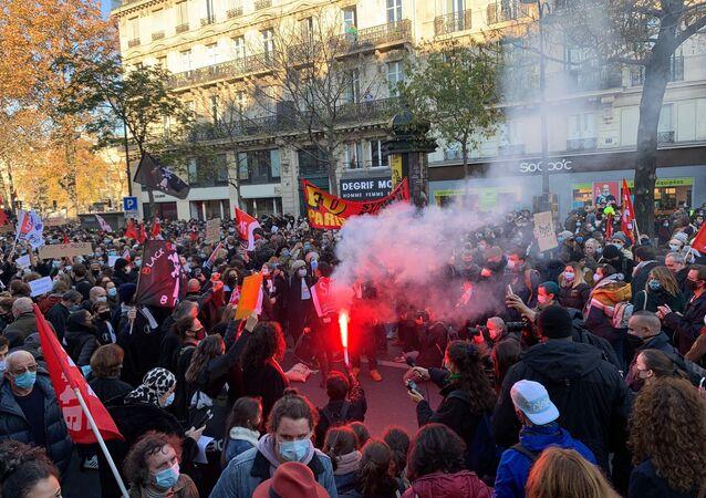 Nouvelle manifestation à Paris contre la loi Sécurité globale, le 28 novembre 2020