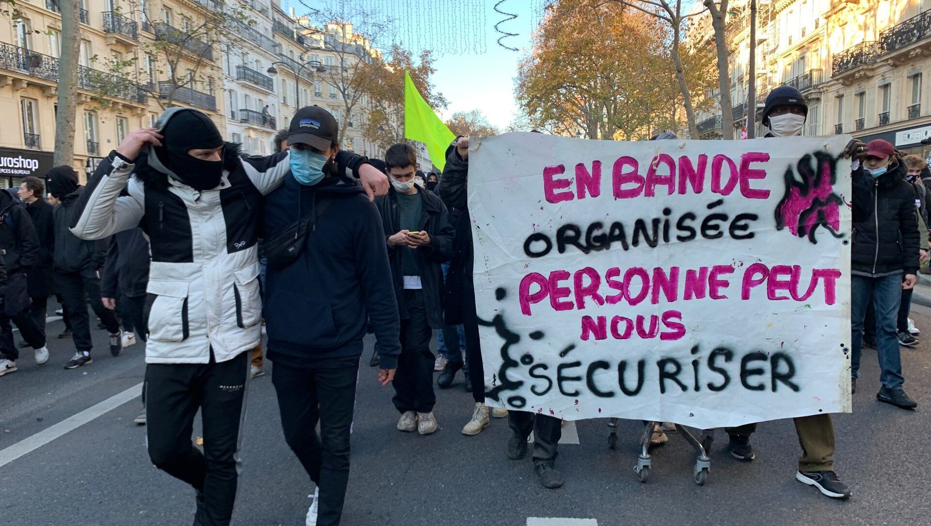 Manifestation du 28 novembre 2020 à Paris contre la loi Sécurité globale - Sputnik France, 1920, 11.03.2021