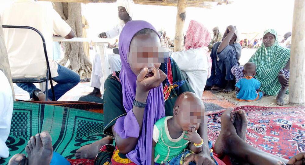 Une jeune femme faisant partie de Boko Haram à 50km de Bol