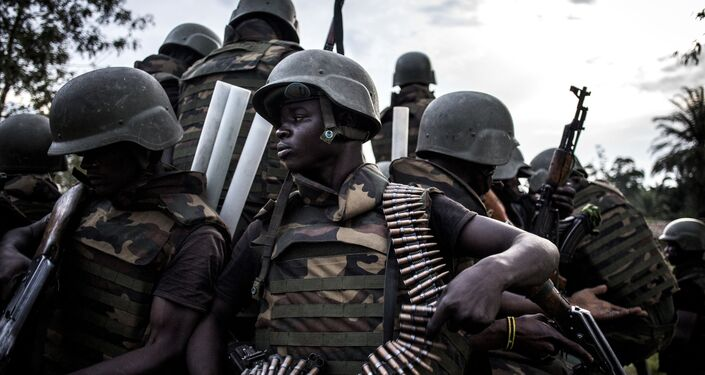 Des soldats des Forces armées de République démocratique du Congo (FARDC)