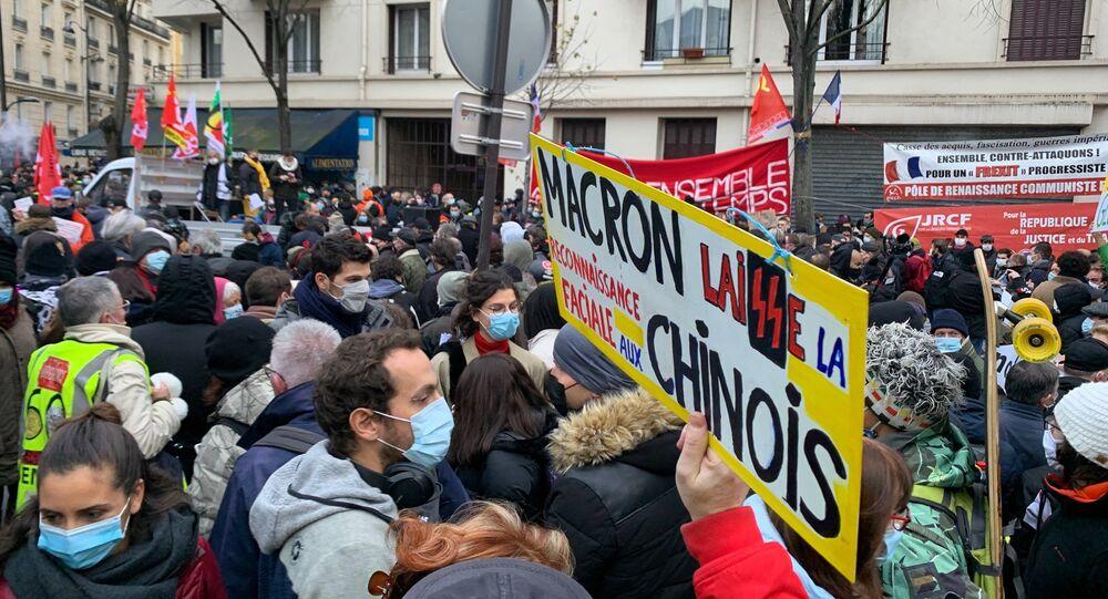 Une manifestation contre la loi Sécurité Globale à Paris, 5 décembre 2020
