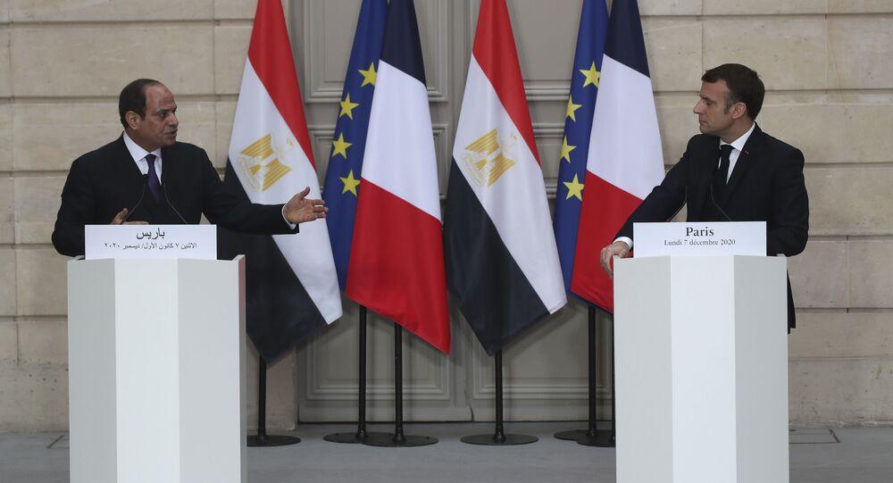 Emmanuel Macron et Abdel Fattah al-Sisi, le 7 décembre 2020