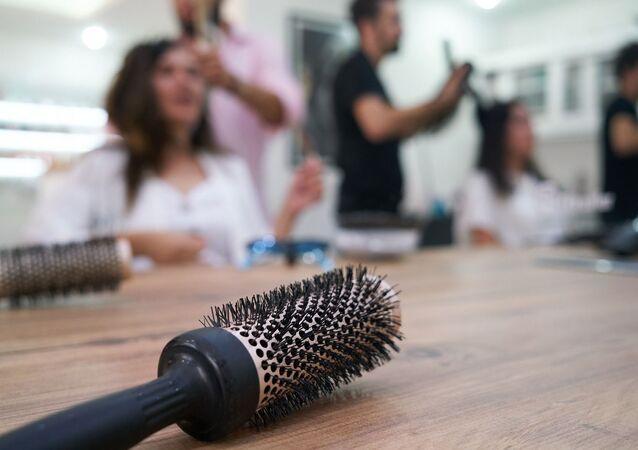 Un salon de coiffure (image d'illustration)