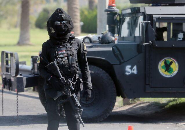 Un militaire des forces spéciales à Bagdad