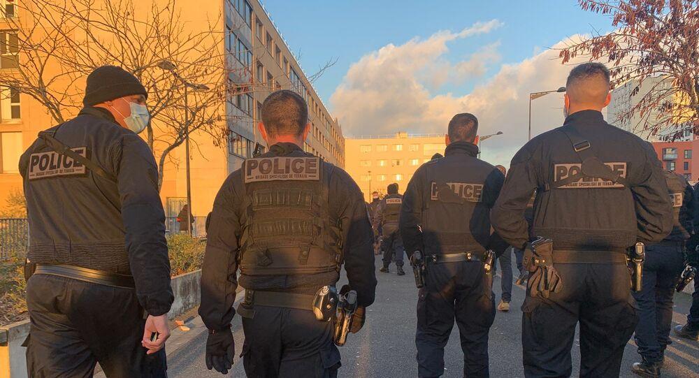 Une action de la police a eu lieu ce 8 décembre à Champigny-sur-Marne