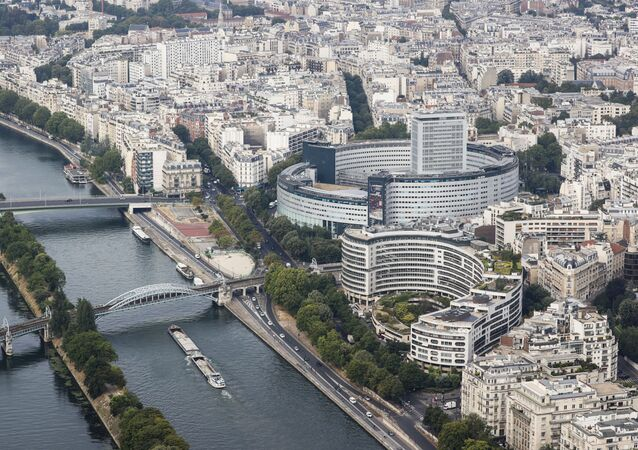 Vue sur le bâtiment de Radio France