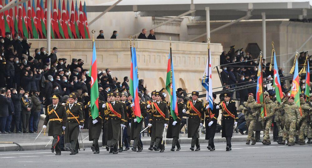 Recep Tayyip Erdogan assiste aux célébrations consacrées à la fin du conflit dans le Haut-Karabakh à Bakou