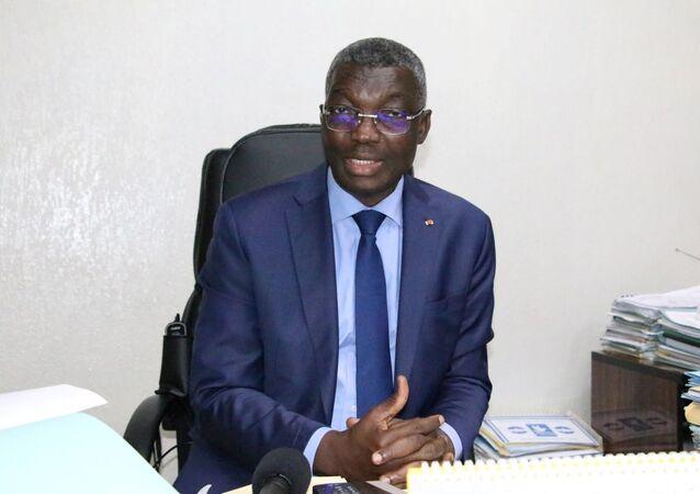Yark Damehame dans son bureau à Lomé, le 5 décembre 2020.