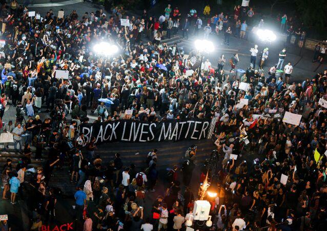 manifestation contre les violences policières à New-York