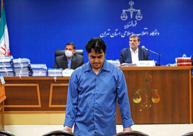 Journaliste et opposant iranien Rouhollah Zam