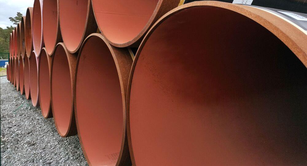 Tubes du futur gazoduc Nord Stream 2 stockés en Allemagne