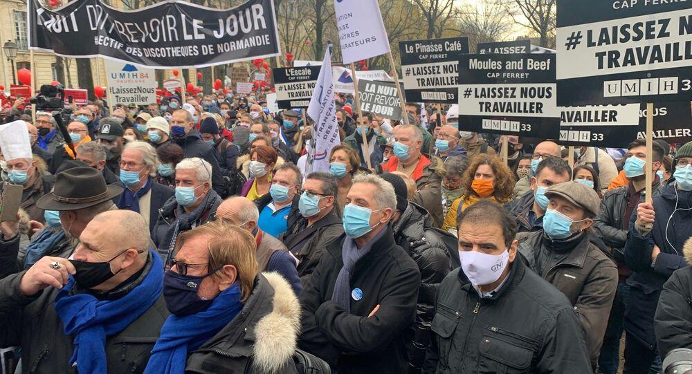 Manif des restaurateurs à Paris, le 14 décembre