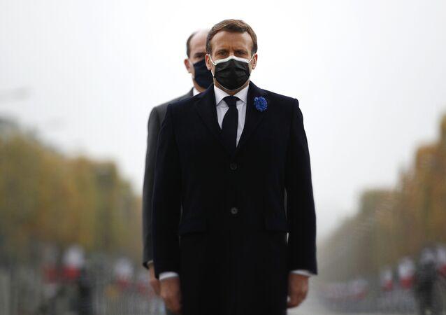 Emmanuel Macron et Jean Castex, le 11 novembre 2020
