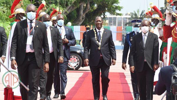 Cérémonie d'investiture du Président ivoirien Alassane Ouattara au palais présidentiel. - Sputnik France