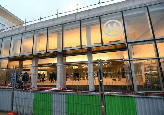 La nouvelle station du métro parisien Mairie de Saint-Ouen