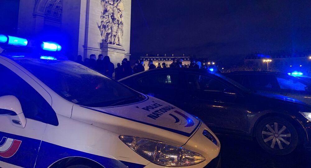 le rassemblement de policiers