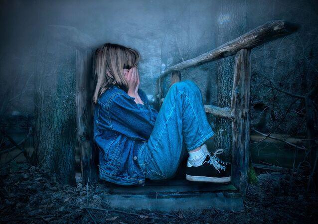 Une fillette qui pleure