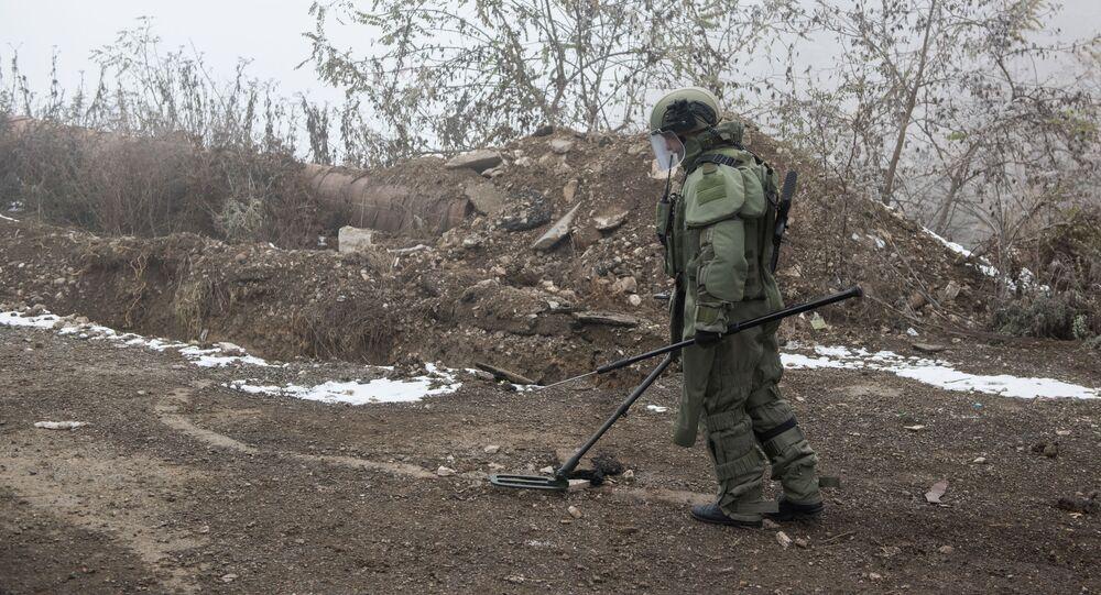 Un démineur russe au Haut-Karabakh (archive photo)