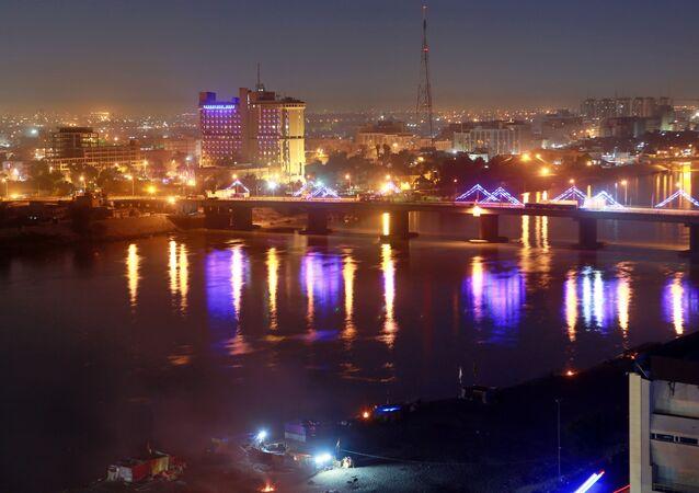 La zone verte dans la ville de Bagdad