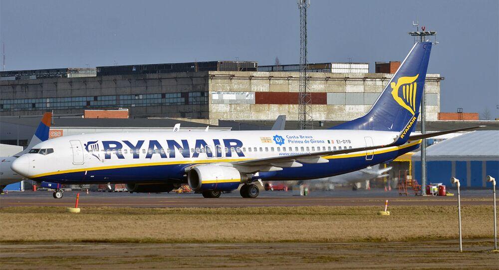 Un avion de Ryanair à l'aéroport de Tallinn (archive photo)