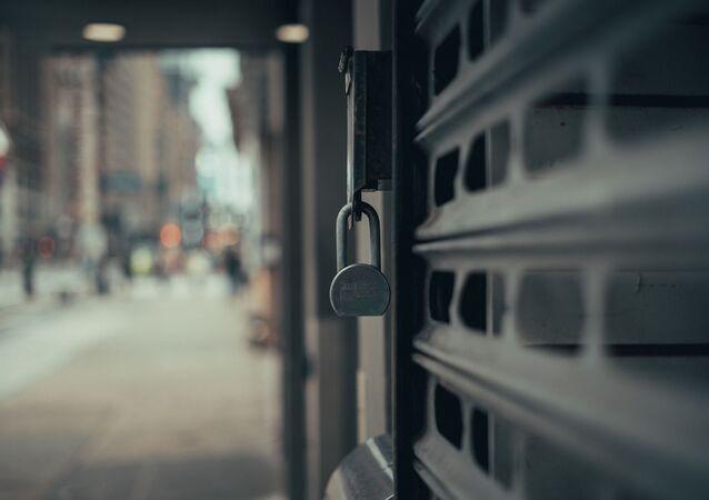 Une porte fermée (image d'illustration)