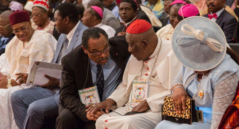 Le cardinal Christian Tumi lors du Grand dialogue national