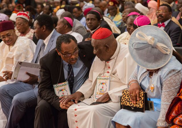 Le cardinal Christian Tumi lors du Grand dialogue national