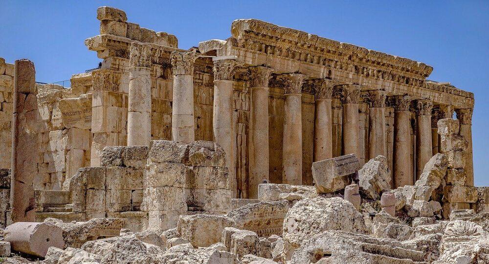 Un temple romain à Baalbek