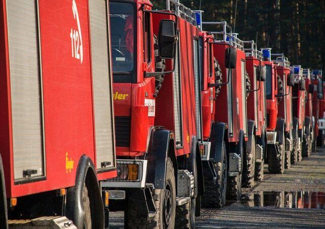 véhicules des sapeurs-pompiers, image d'illustration