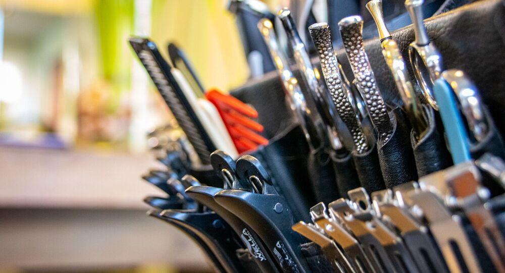 Des instruments d'un coiffeur