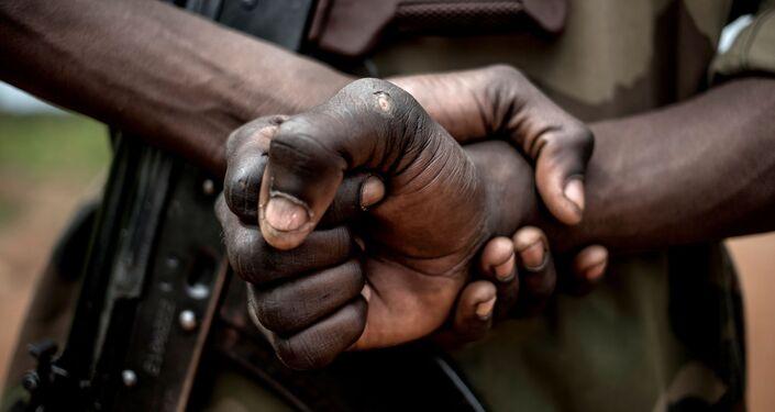 Un membre des FACA (forces armées centrafricaines)