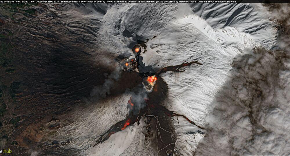 Volcan Etna vu de l'espace (archive photo)