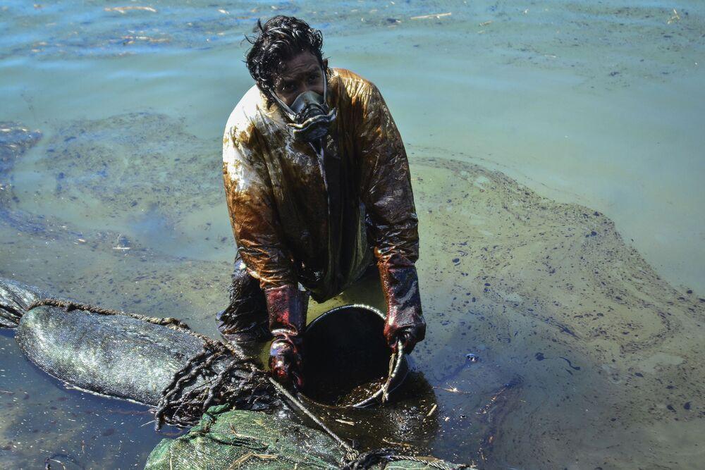 Déversement de pétrole au large de l'île Maurice
