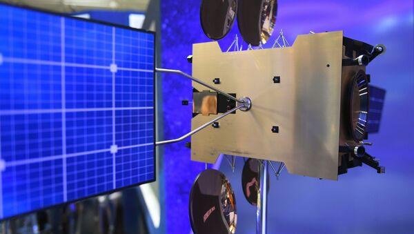Modèle du satellite géostationnaire Yamal-300K au salon du Bourget (archive photo) - Sputnik France