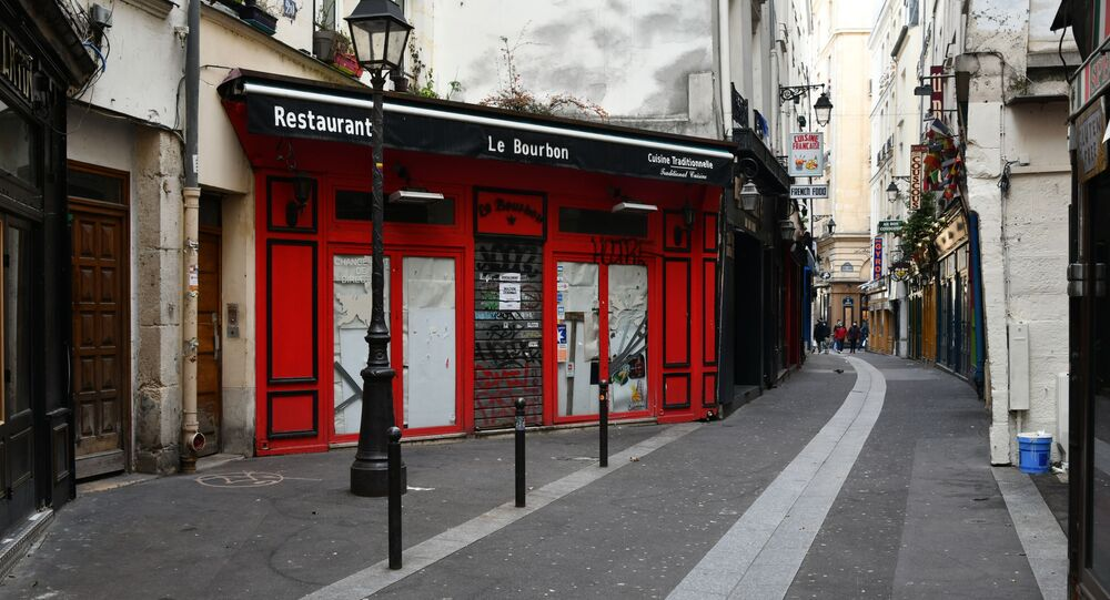 Un restaurant fermé à Paris lors de la crise sanitaire du Covid-19 (archive photo)