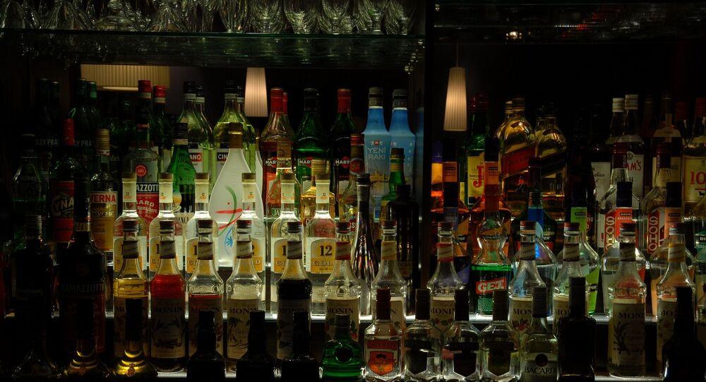 Bouteilles d'alcool