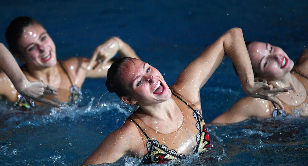L'équipe nationale russe de natation synchronisée, photo d'archives