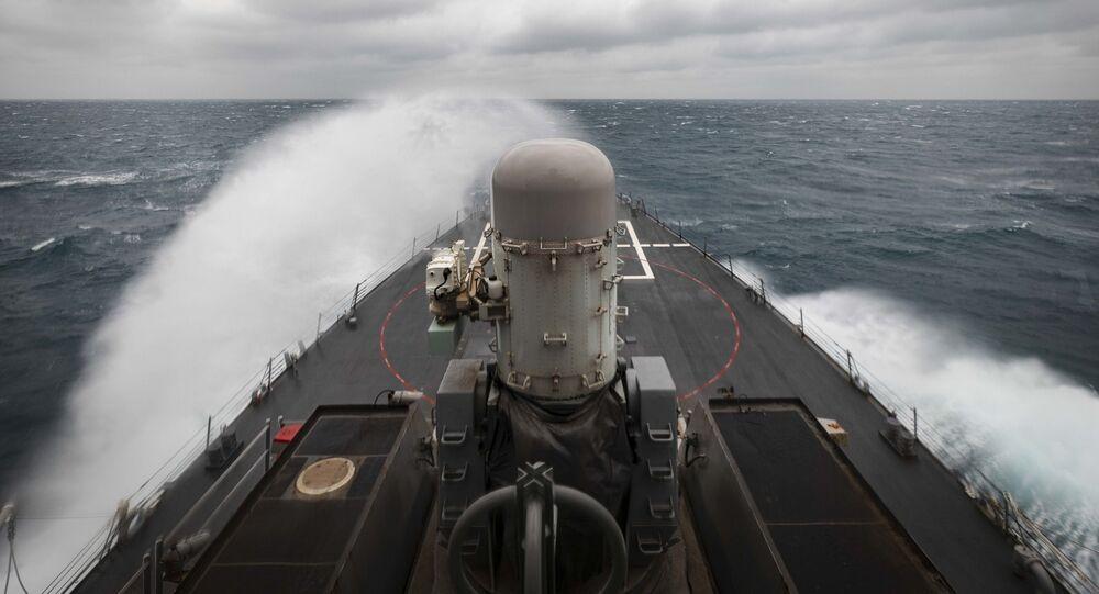 USS John S. McCain dans le détroit de Taïwan