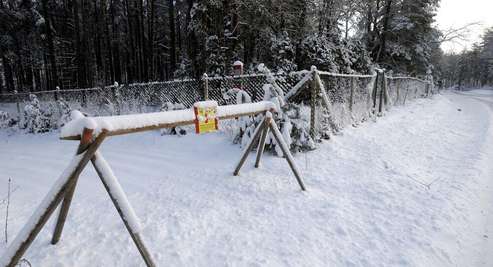 Frontière entre l'Estonie et la Russie à Lutepaa (archive photo)