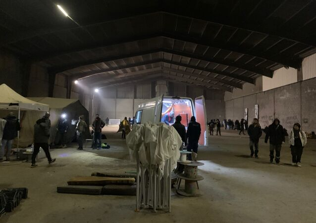 Lieu de la fête sauvage qui a réuni 2.400 personnes au sud de Rennes à l'occasion du Nouvel An