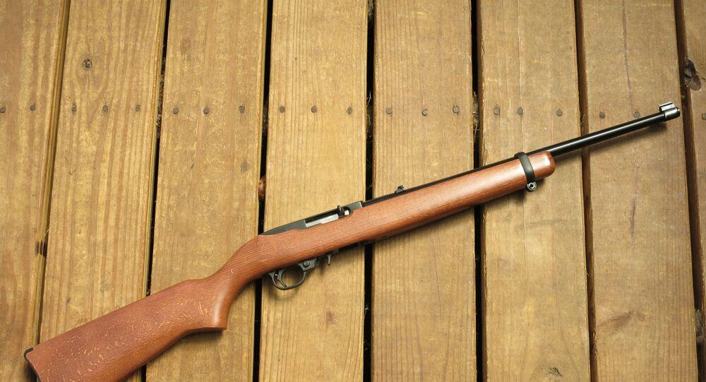 Une carabine 22 Long Rifle