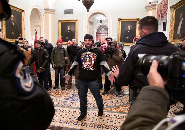 Des manifestants soutenant le Président sortant Donald Trump ont fait irruption dans le Capitole, le 6 janvier 2021